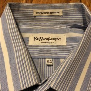 Authentic vintage YSL striped button down